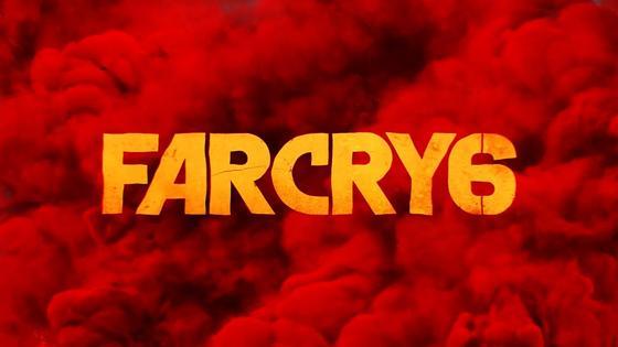 Название игры «Far Cry 6» на фоне красного дыма