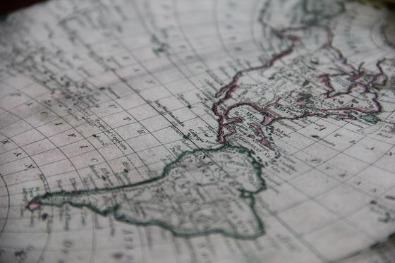 карта Северной и Южной Америки