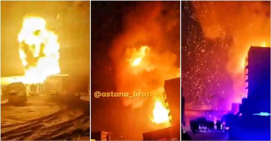 «С пожара в реанимацию»: Охранника оглушило взрывной волной в Астане