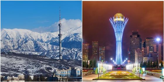 Астана и Алматы попали в пятерку лучших городов для новогодних путешествий