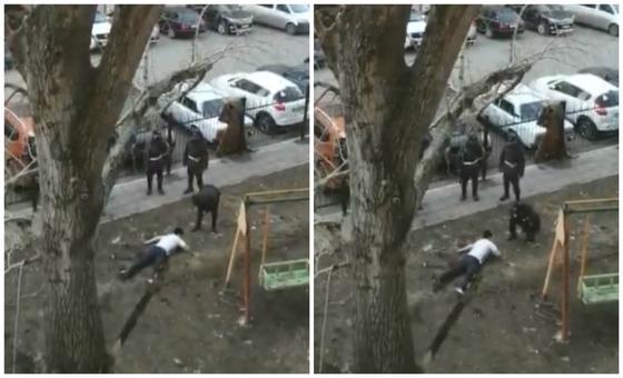 """""""Полиция жақ сүйегін сындырған"""": Көшеде жерде жатқан ер адамның видеосы желіде тарады"""