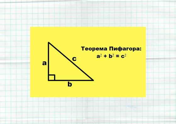 Формулировка теоремы Пифагора
