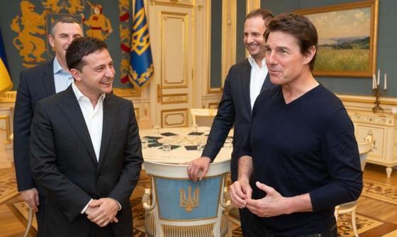 Том Круз встретился с Владимиром Зеленским и захотел снимать кино в Украине