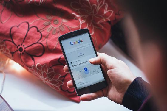 Страница сервиса Google на телефоне