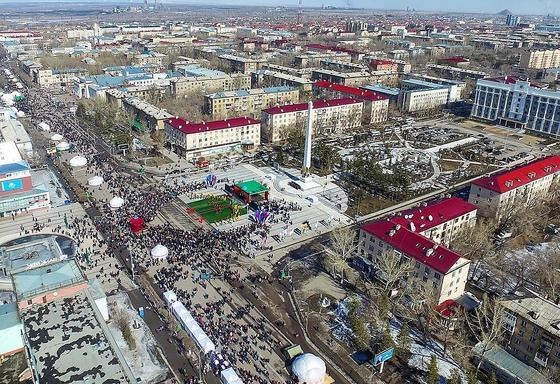 Народные гулянья на Наурыз в РК