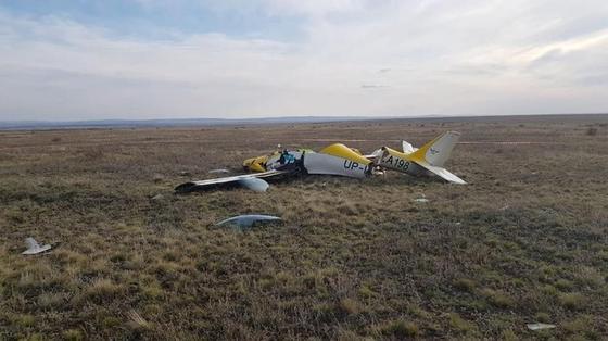 Самолет упал под Нур-Султаном, погиб пилот