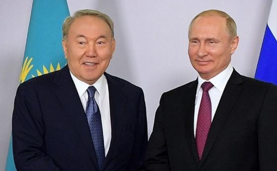 Нұрсұлтан Назарбаев және Владимир Путин. Фото: akorda.kz