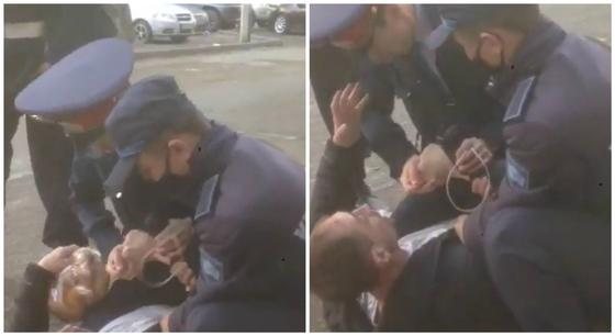 """Вышел за хлебушком"": павлодарца арестовали за поход в магазин без маски (видео)"