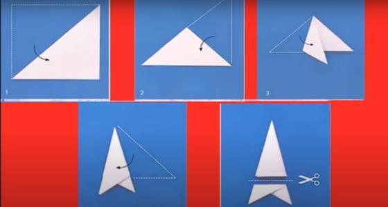 треугольники из бумаги