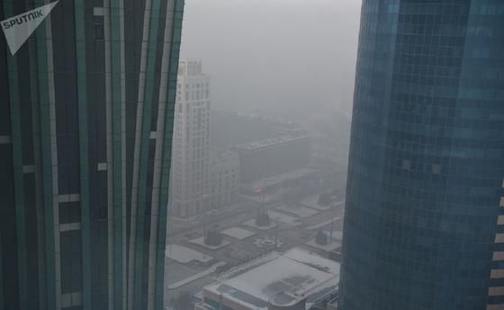 Смог и туман в Нур-Султане