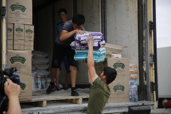 "В Атырауской области собрали гуманитарную помощь в рамках акции ""Арыс, біз біргеміз"""