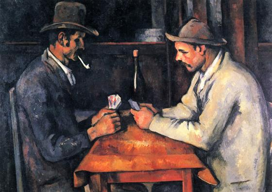 Картина Сезанна «Игроки в карты»