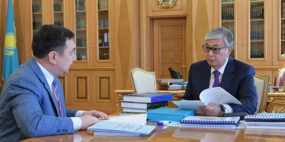 Қасым-Жомарт Тоқаев, Дархан Қыдырәлі. Фото: Ақорда