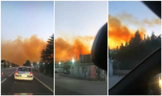 Оранжевое небо: взрыв на азотном заводе прогремел в Турции