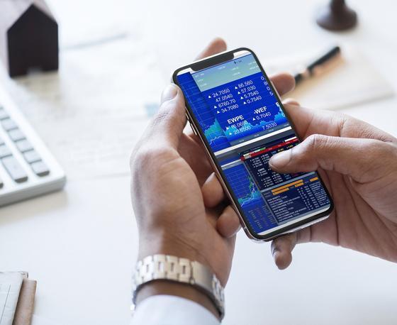 Приложение инвестора в смартфоне