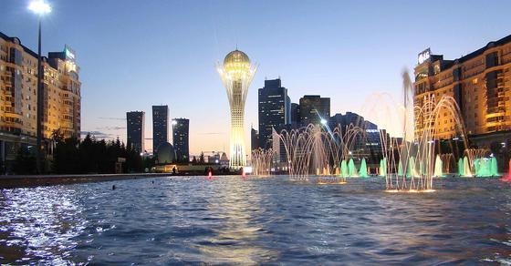 Мегаполис на берегу реки