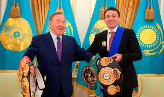 Назарбаев поздравил Геннадия Головкина с победой