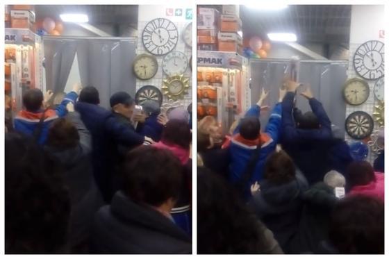 Россияне устроили давку из-за блендеров за 1200 тенге