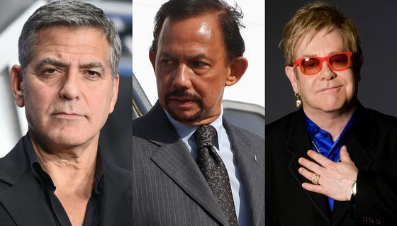Смертная казнь в Брунее: Джордж Клуни и Элтон Джон объявили бойкот отелям султана