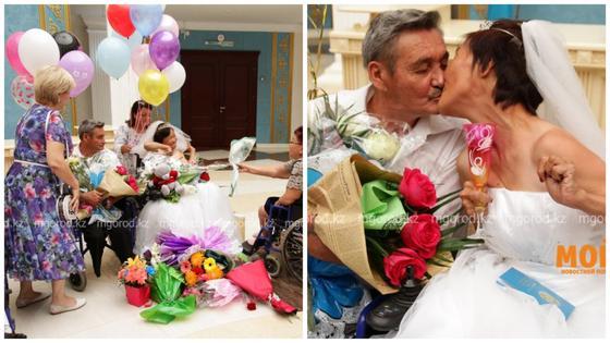 Спортсмены-колясочники сыграли свадьбу в Уральске (видео)