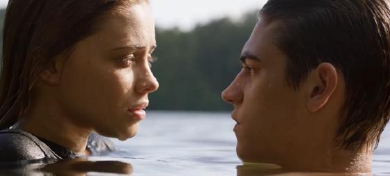 Тесса и Хардин на кадре фильма После