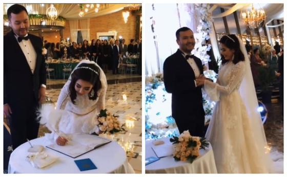 Видеодан кадр: Instagram/svadba.kz.weddingmal