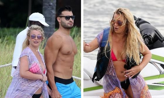 Бритни Спирс с бойфрендом на снимках папарацци. Фото: East News