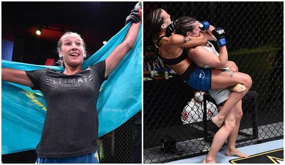 Первая казахстанка в UFC удосрочила соперницу в первом раунде в дебютном бою (видео)