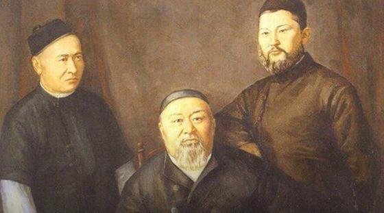 Абай Кунанбаев с сыновьями