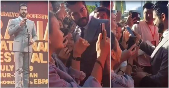 Турецкая звезда Бурак Озчивит вызвал ажиотаж среди девушек в Нур-Султане (видео)