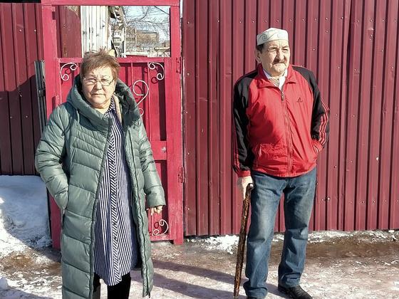 Баянбек Абельдинов с женой