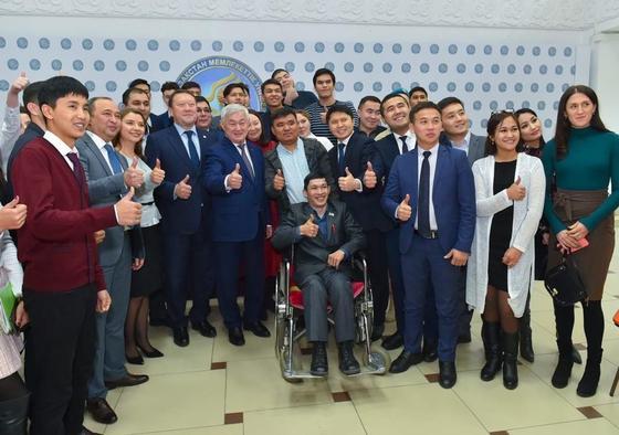 Бердибек Сапарбаев встретился с молодежью Северного Казахстана