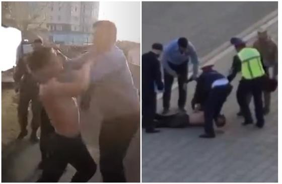 """""""Вырвано из контекста"""": кадры с жестким задержанием объяснили в полиции Нур-Султана"""