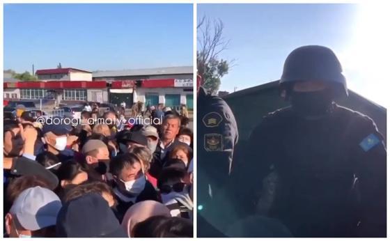 Полицейлер карантинде Алматыға кірмек болғандарды ұстады (видео)