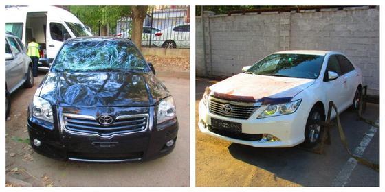 Нашли автомобили, на которых совершили наезд на людей в Алматы (фото)