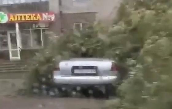 Карагандинцы возмутились, что их не предупредили об ураганном ветре