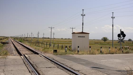 Железная дорога уходит вдаль