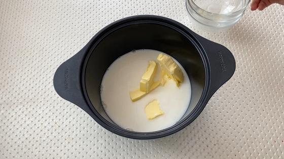 Масло в молоке с водой