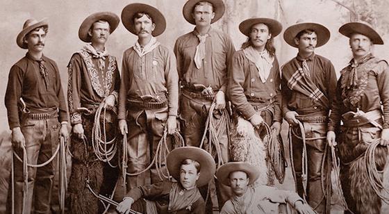 архивное фото ковбоев