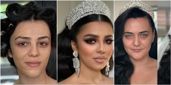 ФОТОРЕП Чудеса косметики: свадебный макияж превращает обычных девушек в настоящих принцесс (фото)