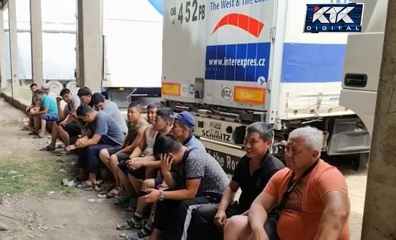Дальнобойщики в Жамбылской области