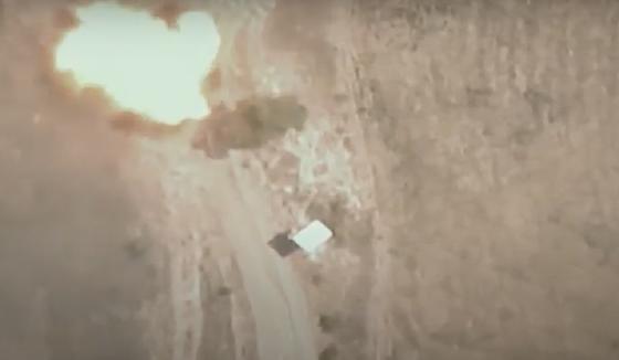 Азербайджанский дрон-камикадзе уничтожил машину МЧС Армении