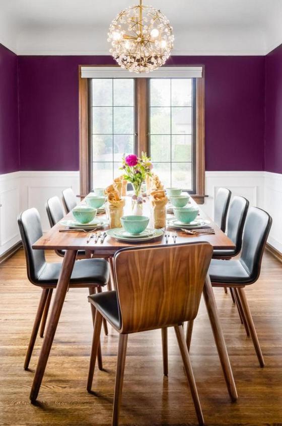 Дизайн дома в фиолетовых тонах