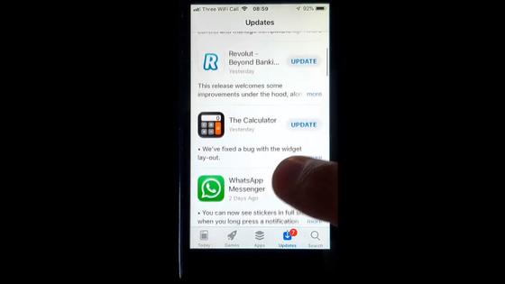 Магазин приложений AppStore открытый на телефоне