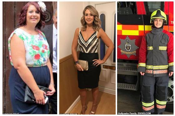 Девушка весом более 100 кг серьезно похудела, чтобы стать пожарным, как папа