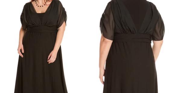 Вечернее платье для полных девушек в греческом стиле