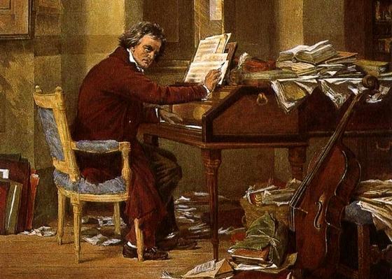 Бетховен творит — картина Карла Шлоссера