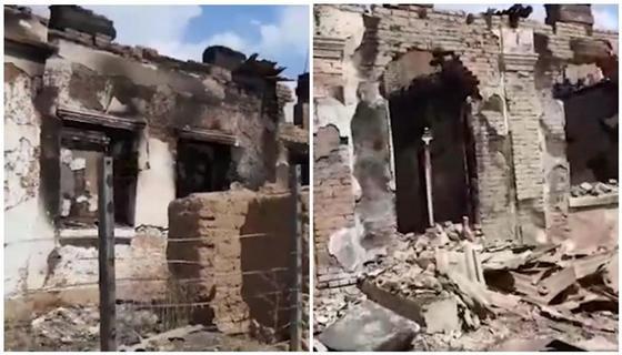 Пятиквартирный дом в Арыси сгорел дотла при взрывах в Арыси (видео)