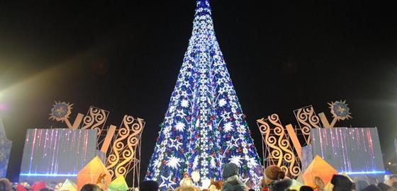 Главную елку страны зажгут в Астане 18 декабря