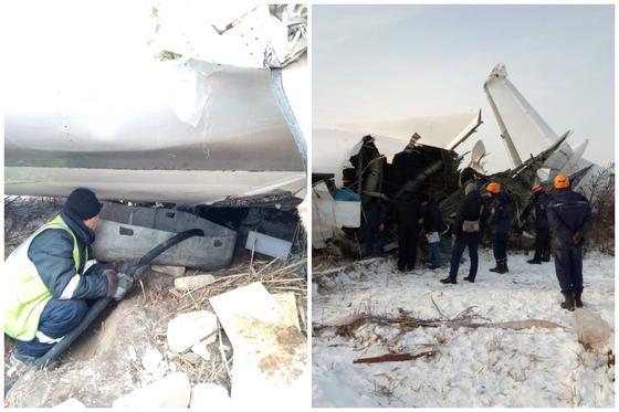 350 человек продолжают работы на месте авиакрушения в Алматы